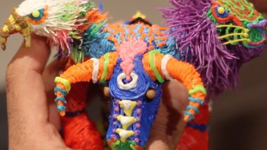 3d drawing of an alebrije, created with the 3Doodler pen