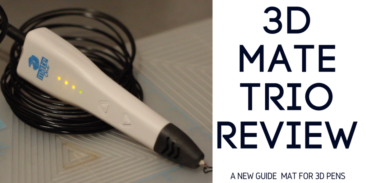 3d Mate Review — The 3d Mate TRIO includes a design mat, a 3d printing pen and a wide variety of PLA filament. Read my review here: