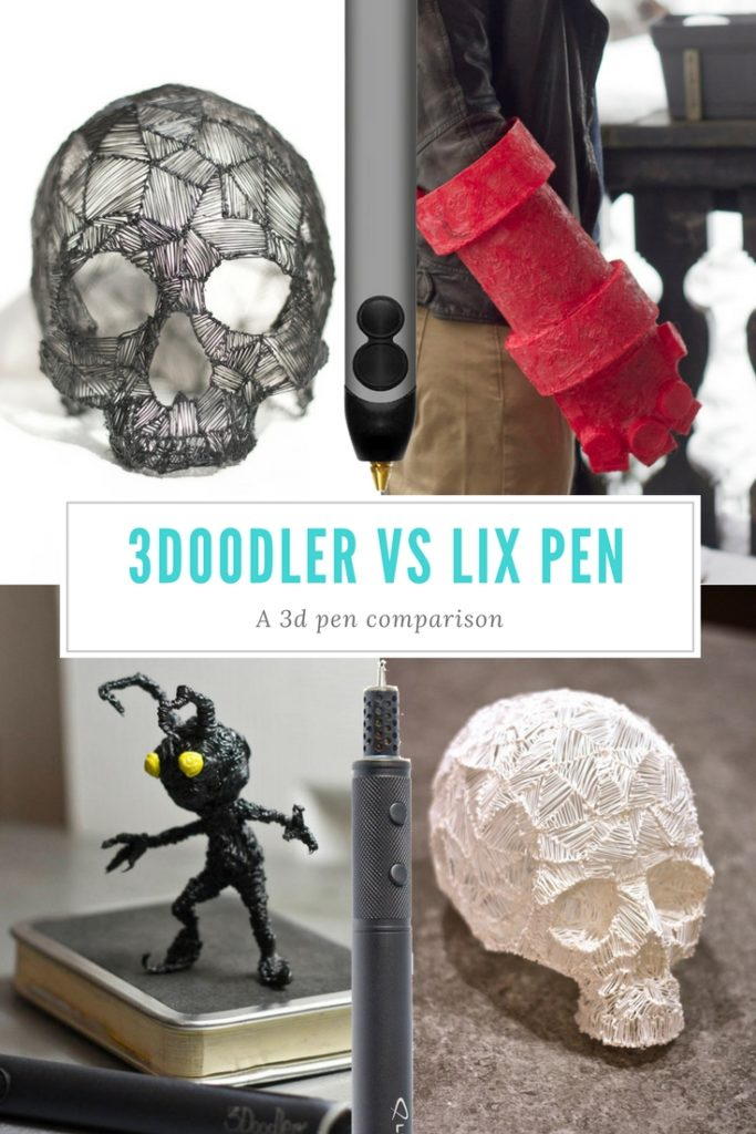 A comparison between the highest selling 3d pens on the market. 3Doodler vs LIX pen, which one is better for you?