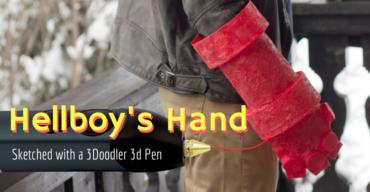 Hellboy's Hand of Doom, sketched with a 3Doodler by Riikc / 3Doodler Art