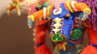 bull, crab, eagle, lion, turtle, octopus. All of these animals can be found on this alebrije.