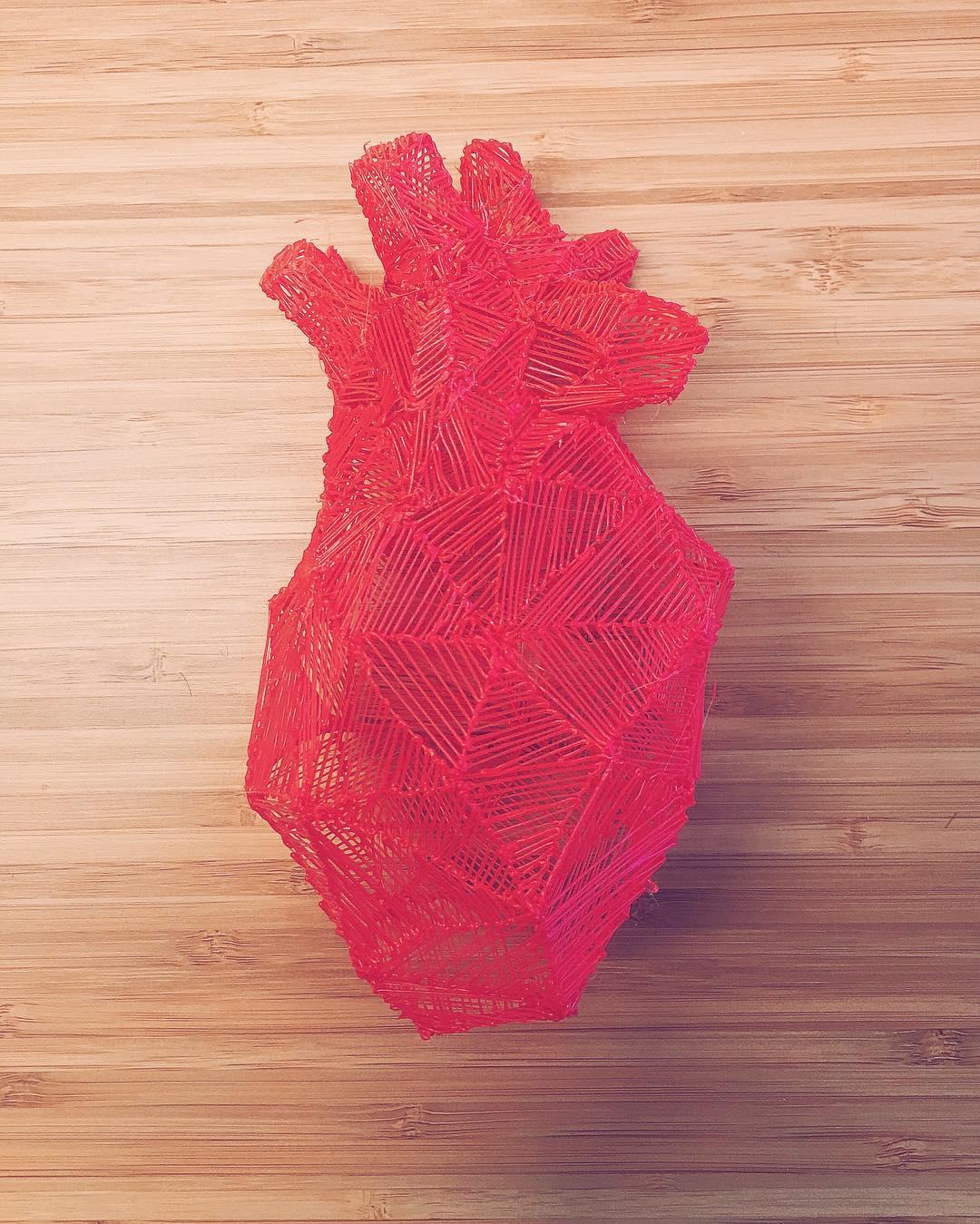 3d pen heart