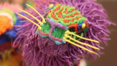 Lion detail of the 3d drawn alebrije created with the 3doodler