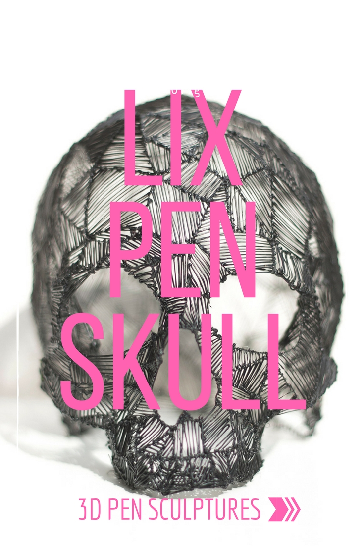 A 360 view of my original 3d pen skull created with a LIX pen. I can't believe my work has been featured all around the world!
