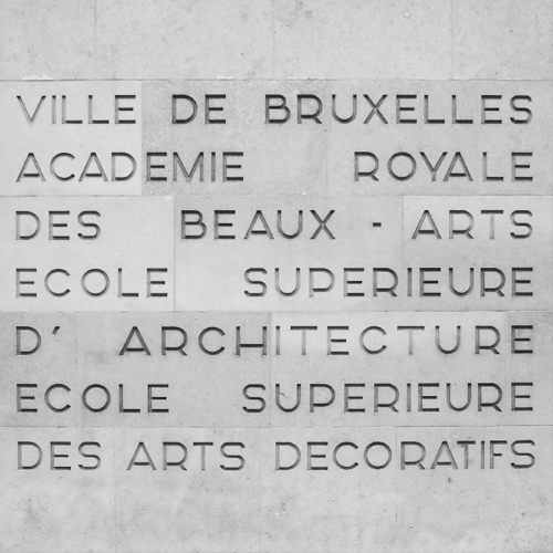 Académie Royale des Beaux-Arts de Bruxelles, my alma mater