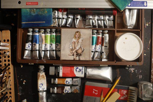 Zorn palette oil portrait of Jenny